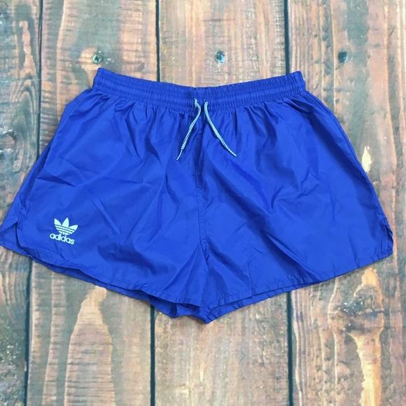 ac63a95fe9 ADIDAS Vtg USA Blue Trefoil Running Soccer Shorts